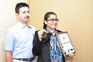 Aakanksha Hagawane U-16 World Chess champion6